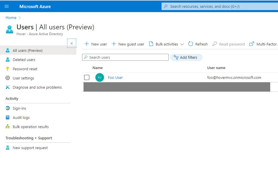 Switch Azure AD tenant and create user Step 7